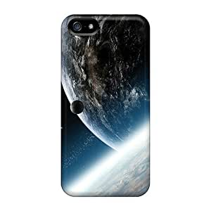 Iphone 5/5s Case Cover - Slim Fit Tpu Protector Shock Absorbent Case (planets Earth)