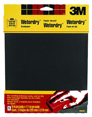 600 Wet-Or-Dry Sandpaper 5Pk