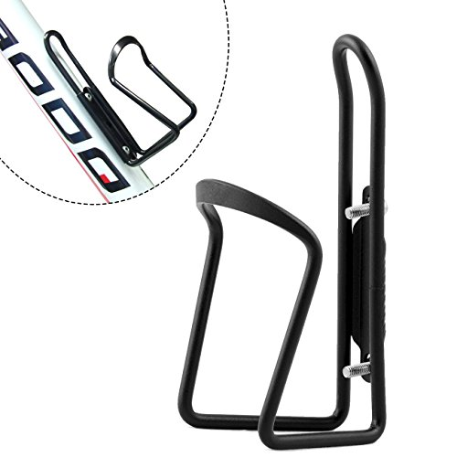 FiveBox Bottle Cage, Lightweight Aluminum Bicycle Water Bottle Cage Holder Bracket for Outdoor Activities-Black