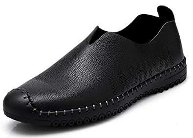 Men's casual Leather shoes A104 black 41 EU