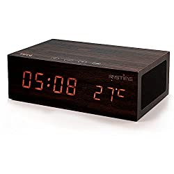 IRISTIME Multi-Function NFC Wireless Bluetooth Stereo Speaker Clock System with Alarm Functions LED Display, 2 USB Dock Charging Station Work With Smartphones,Tablets, MP3/MP4 Players (W1)
