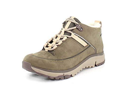 CLARKS Womens Tri Fern GTX Khaki Combi Hiking Shoe - 7.5