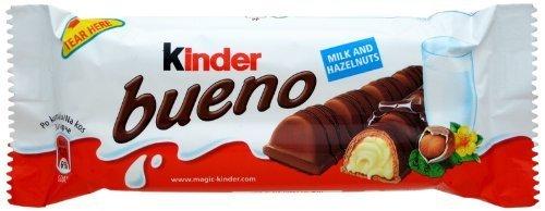 9 Bars of Kinder Bueno Chocolate with Hazelnut Cream Filled Wafer
