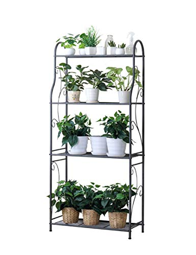 Multi-Layer Plant Stand for Multi-Function Plant Display Stainles Steel Storage Rack (Size : 57.9 -
