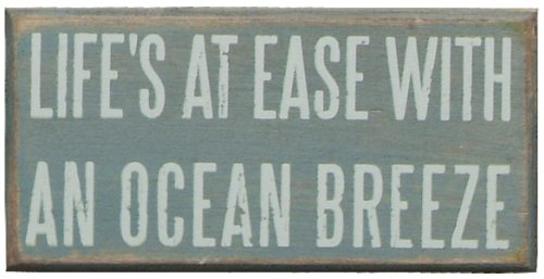 primitives by kathy ocean breeze box sign, neutral