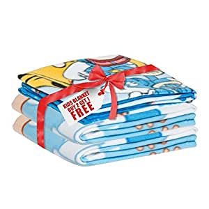Smurfs Baby Blanket Boys (Buy Two Get One Free)