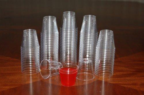 1 ounce Clear Plastic Shot Glasses - Box of 500 (1 oz) by Clear Lake Enterprises Royal