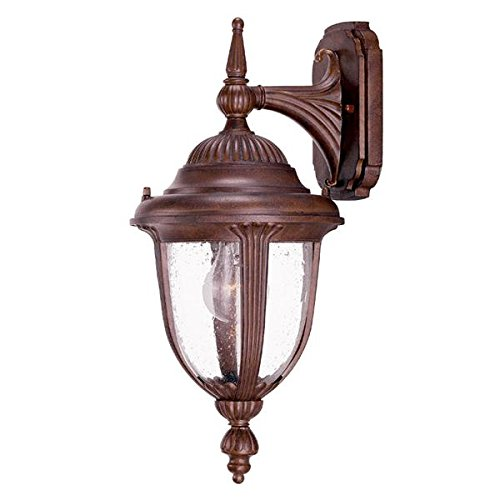 Acclaim 3501BW Monterey Collection 1-Light Wall Mount Outdoor Light Fixture, Burled Walnut