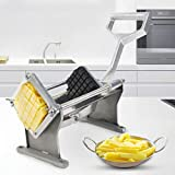 Goplus French Fry Cutter Fruit Vegetable Potato Slicer Commercial Grade W/ 4 Different Size Stainless Steel Blades