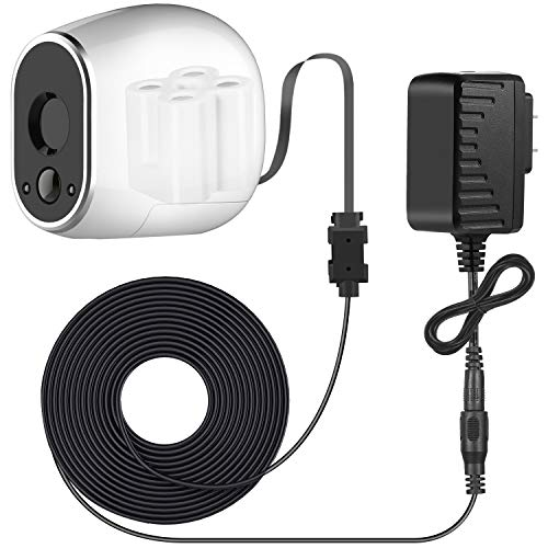 Sumind Adapter and 20 ft/ 6 m Outdoor Weatherproof Power Cable Compatible with Arlo, Replace The Arlo Batteries (CR123A) to Continuously Operate, Not Compatible with Arlo Pro and Arlo 2 (Black)