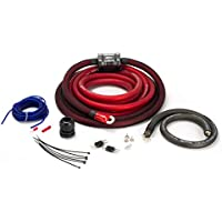 SCOSCHE EFXAKC0 0Awg Ofc Amp Power Kit; 300A Dual Mini-Anl, Ultra-Flex Fine Strand, Ultimate Ground, Retail Double Blister