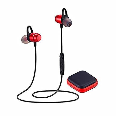Bluetooth Headphones 4.2 Wireless Sports Earphones HD Stereo Sweatproof Earbuds Magnetic Connection Headset for Gym Running Workout,Built-in Mic,Battery up to 10 Hours (Bluetooth Optional Headphones)