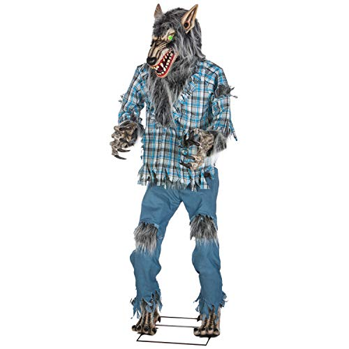Holiday Living Dc Animatronic Werewolf Pre-Lit Lifesize Greeter with Constant Green LED Lights (78.74-in)]()