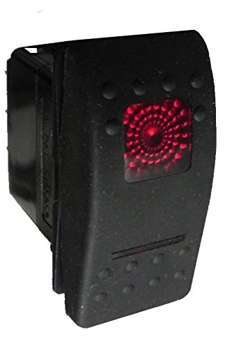 NEW CARLING V6D1 ON//OFF//ON 12V 20 AMP ILLUMINATED ROCKER SWITCH WITH COVER