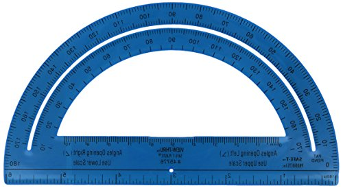 """Learning Resources 336910 Protractor, 6"""", Plastic, Assorted Color"""