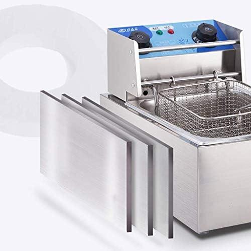 Praktische friteuse, enkele/dubbele cilinder elektrische friteuse met kijkvenster temperatuurregeling antislip gemakkelijk schoon krachtig 2500W zilver