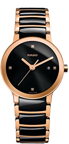 Rado Women's R30555712 Centrix Analog Display Swiss Quartz - Rado Ladies Gold Watch