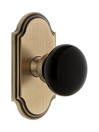 Grandeur Hardware 852708 Arc Rosette with Coventry Knob Single Dummy Timeless Bronze