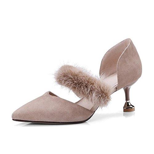 des NVXIE Tribunal Talon Haute Taille Chaussures Cheville Travail Sandales Pompes KHAKI Faible Sangle Femmes EUR37UK455 Milieu PqgwrP0