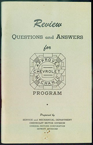 Chevrolet Approved Mechanic Program Review Q&A booklet 1944