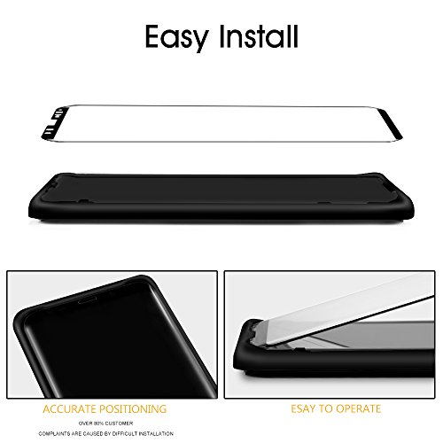 Galaxy S9 Screen Protector Tempered Glass, [Update Version]OTAO 3D Curved Dot Matrix [Full Screen Coverage] Samsung Galaxy S9 Screen Protector(5.8'') with Installation Tray [Case Friendly] by OTAO (Image #2)