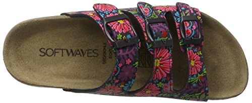 Softwaves 274 475 - Mules Mujer Mehrfarbig (NAVY MULTI)