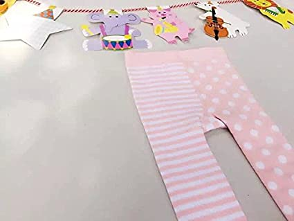 35c0632bc661e ACVIP Mignon Collants Chaussettes Pantalons Ensemble Leggings en Coton Pour  Bébé Enfant Fille 0-36 Mois (Pour bébé 24-36 mois