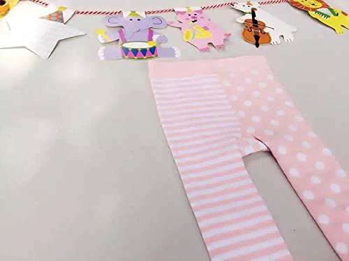 Baby Girls Stripe Polka Dots Ballet Princess Leg Warmer Footed Tights XueXian TM