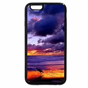 iPhone 6S Plus Case, iPhone 6 Plus Case, crane on a gorgeous beach at sunset