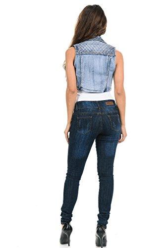 M.Michel Women's Denim Vest - Style 575 - Light Blue - Size Small by M.Michel (Image #3)