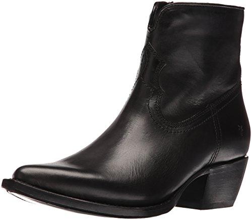 FRYE Women's Shane Short Western Boot, Black, 8 M US