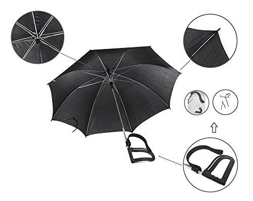 meilleur service 3b6a3 5dc9f Parapluie sans les mains - Noir