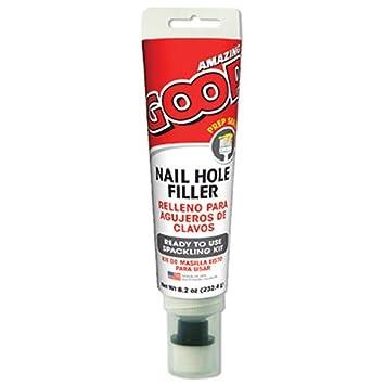 Amazing GOOP 310010 Nail Hole Filler Adhesive, 8.2 oz - Wall ...