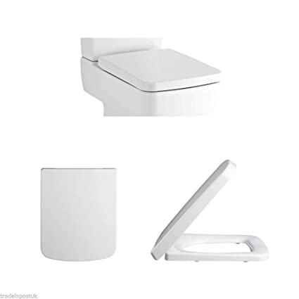 Superb Premier Nch198 Square Soft Close Toilet Seat Top Fixing Easy Clean White Modern Onthecornerstone Fun Painted Chair Ideas Images Onthecornerstoneorg