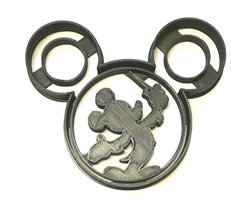 MICKEY MOUSE CONDUCTOR TRAIN CONCERT WAND SILHOUETTE SPECIAL OCCASION COOKIE CUTTER BAKING TOOL 3D PRINTED MADE IN USA PR617