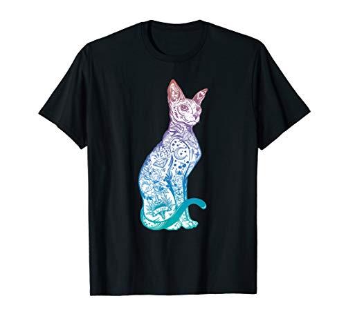Stay Weird - Pastel Goth Sphynx Cat Tshirt - Tattoo Kitten