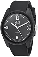 40Nine Men's 'Basic' Quartz Plastic and Silicone Casual Watch, Color:Black (Model: 40N2.5.1M)