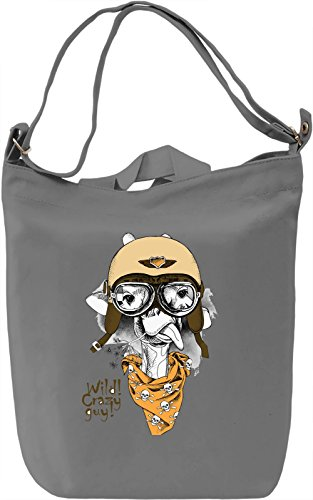 Funny Bird Borsa Giornaliera Canvas Canvas Day Bag| 100% Premium Cotton Canvas| DTG Printing|