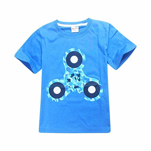 Price comparison product image Wensltd Fidget Spinner Premium T-shirt For Boys Children (6-7Y, Blue)