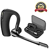 Bluetooth Headset, Torondo Hand Free Wireless Earpiece Sweatproof Noise Reduction Earbuds with Microphone Crystal Clear Sound for Business/Trukers/Driver Pair with Android Iphone, Samsung PC Laptop