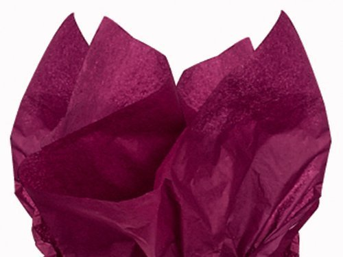 (Dark Burgundy Wine Bulk Tissue Paper 15 Inch x 20 Inch - 100)