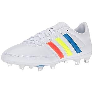 adidas Men's Soccer Gloro 16.1 Firm Ground Cleats, Vivid Red/Running White/Black (7, White/Multi)