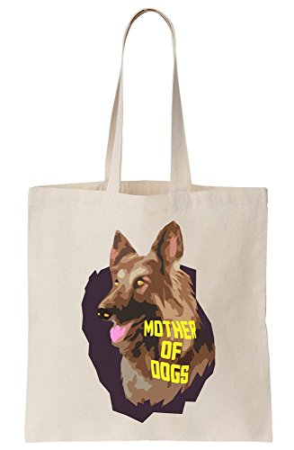 Mother German Bag Tote Of Shepard Artwork Canvas Dogs grxfREqwng