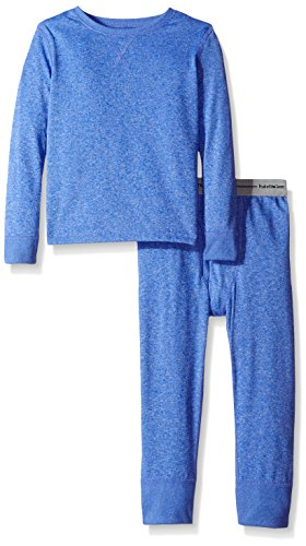 Fruit of the Loom Boys' Big Active Performance Thermal Underwear Set, Royal Heather, 10/12