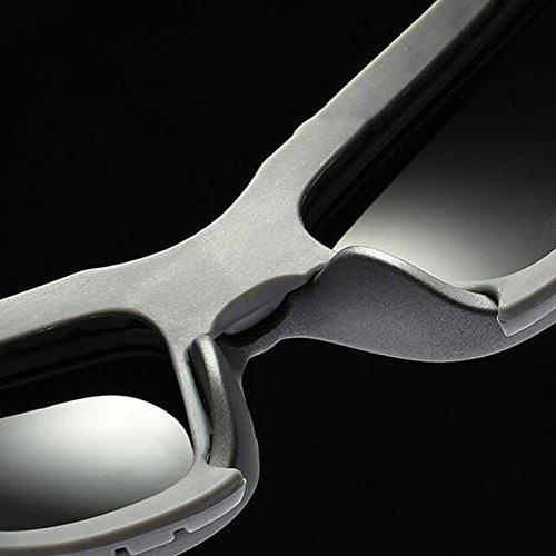 Protección Gafas Polarizada De Solar Luz Gafas Marco 100 Libre Clásico UV Negro Sol Protección Rompevientos Aire Anti De Redondo Conducción UVA Gris Color Hombres Gafas WYYY qpIFaw