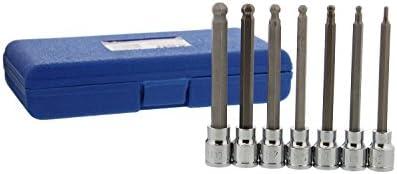 "*New* ABN 7pc 3//8/"" Dr.Long Ball Head Hex Bit Socket Set Metric ABN 3378 B550"
