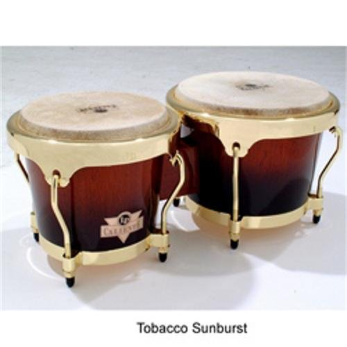Latin Percussion LPC701-TSB Caliente Wood Bongos (Tobacco Burst) by Latin Percussion