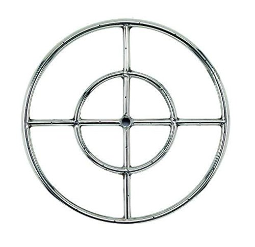 American Fireglass Round Stainless Steel Fire Pit Burner (SS-FR-18-LP), Propane, 18-Inch by American Fireglass