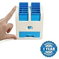 Drumstone Mini USB Cooler Portable Desk Table Fan for Office Home USB Electric Air Conditioning With Adjustable Dual Air Outlets