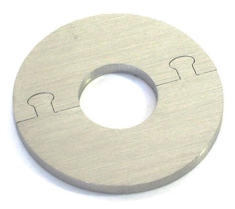 EXKLUSIVE EDELSTAHL rund Heizkörper Rosette - Einzelrosette für HEIZUNG Ø 12-28 mm (22 mm Rohrdurchmesser)